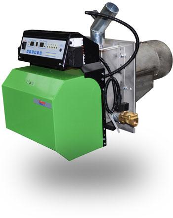 Wood pellet burner from 25 to 100 kW