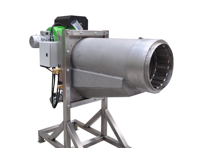 Bruciatore a pellet da 1000 kW - Vista destra (3)