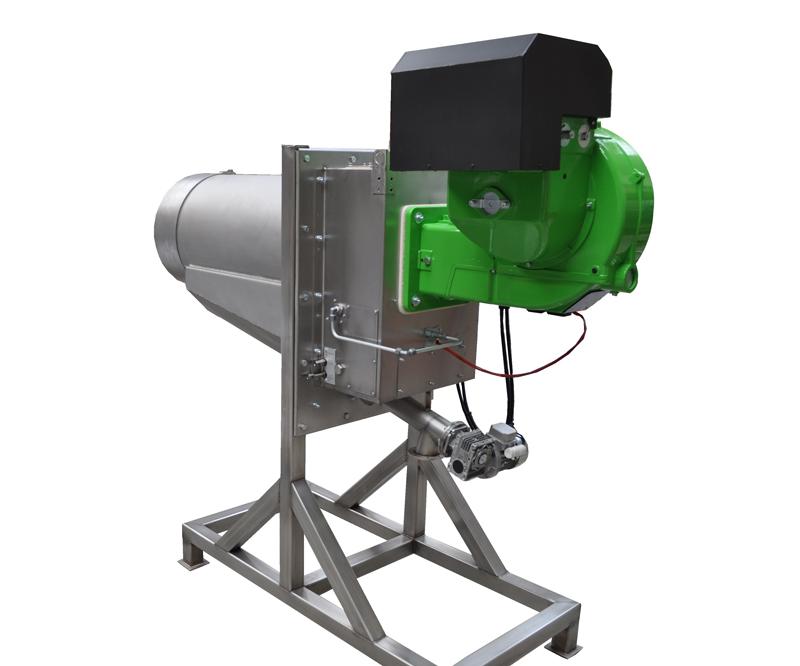 Bruciatore a pellet da 1000 kW - Vista destra (1)