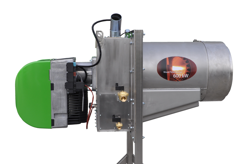 Bruciatore a pellet da 600 kW - Vista destra (3)