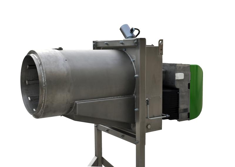 Bruciatore a pellet da 600 kW - Vista sinistra (2)