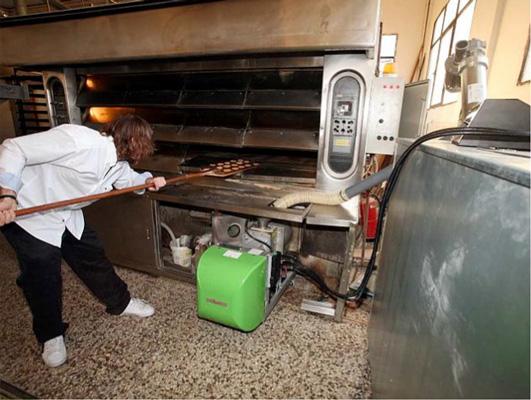forno da pane a pellet di legno