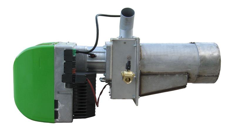 bruciatore a pellet di legno da 200 kW, vista destra