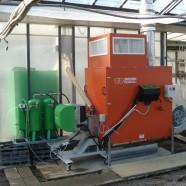 Applicazione di un bruciatore ad agripellet su un generatore aria calda per il riscaldamento di una serra