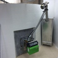 50 kW pellet burner installed on bread oven