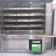 Installation of pellet burners on bread oven